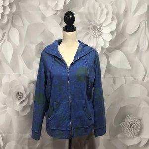 Fresh Produce Blue Full Zip Hoodie Sweatshirt M